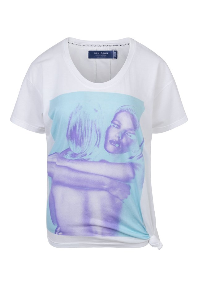 EMBRACING GIRL TEE - T-shirt print - embracing blue