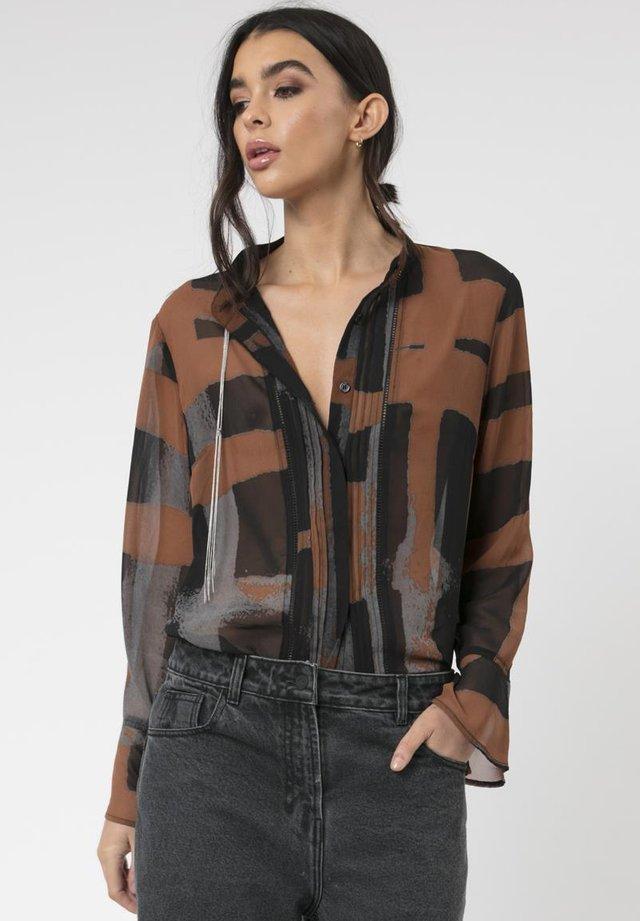 ARA - Button-down blouse - brown