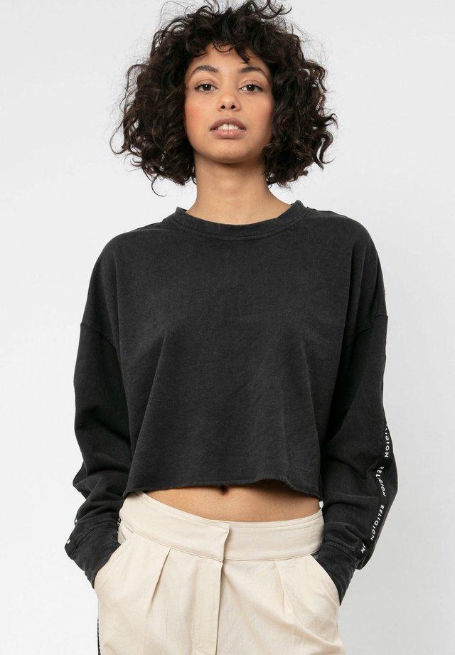 ALIVE - Sweatshirt - washed black