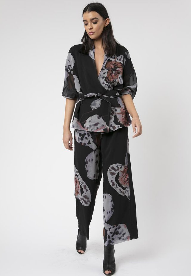 CENTURY WRAP - Jumpsuit - dark grey