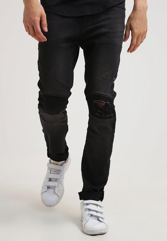 CAVERN - Džíny Slim Fit - washed black