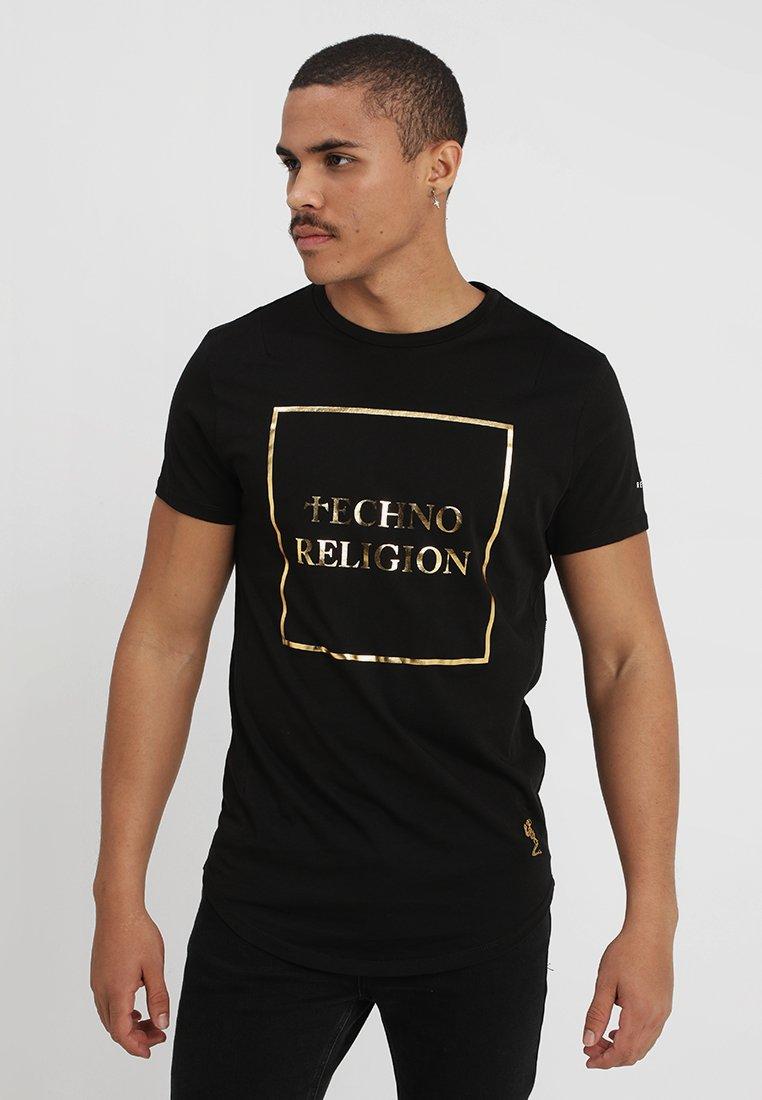 Religion - TECHNO - T-shirt con stampa - black/gold
