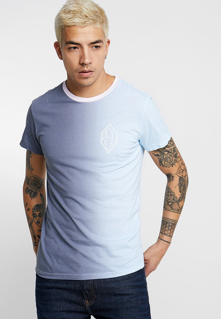 Religion - VERTICAL GRADIENT - Print T-shirt - grey/blue