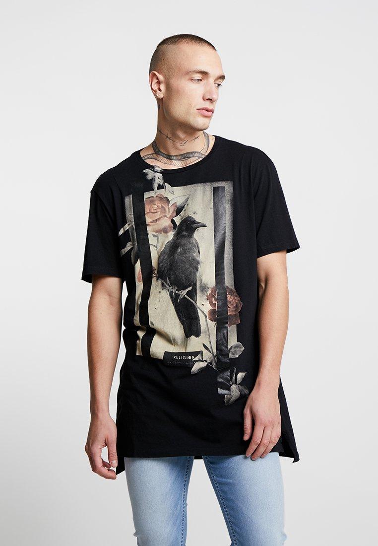 Religion - LONE CROW - Print T-shirt - black