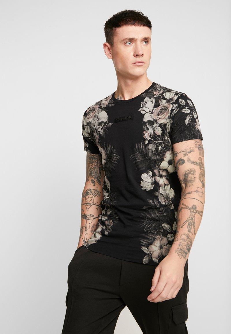 Religion - SKELETON AND PALM - T-shirts print - black