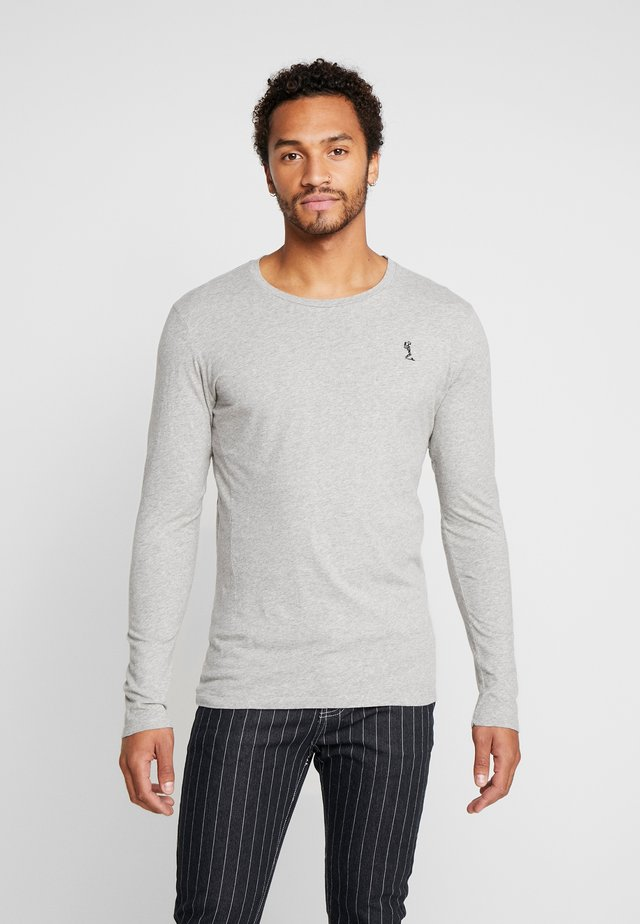 PLAIN CREW NECK TEE - Top s dlouhým rukávem - light grey marl