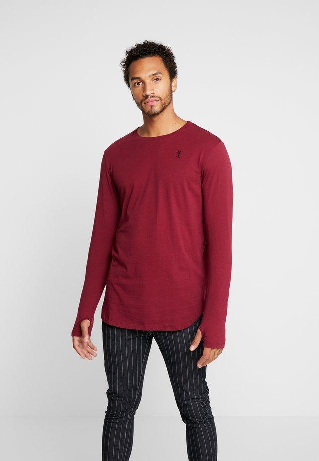 ACE LONGLINE  - Långärmad tröja - burgundy