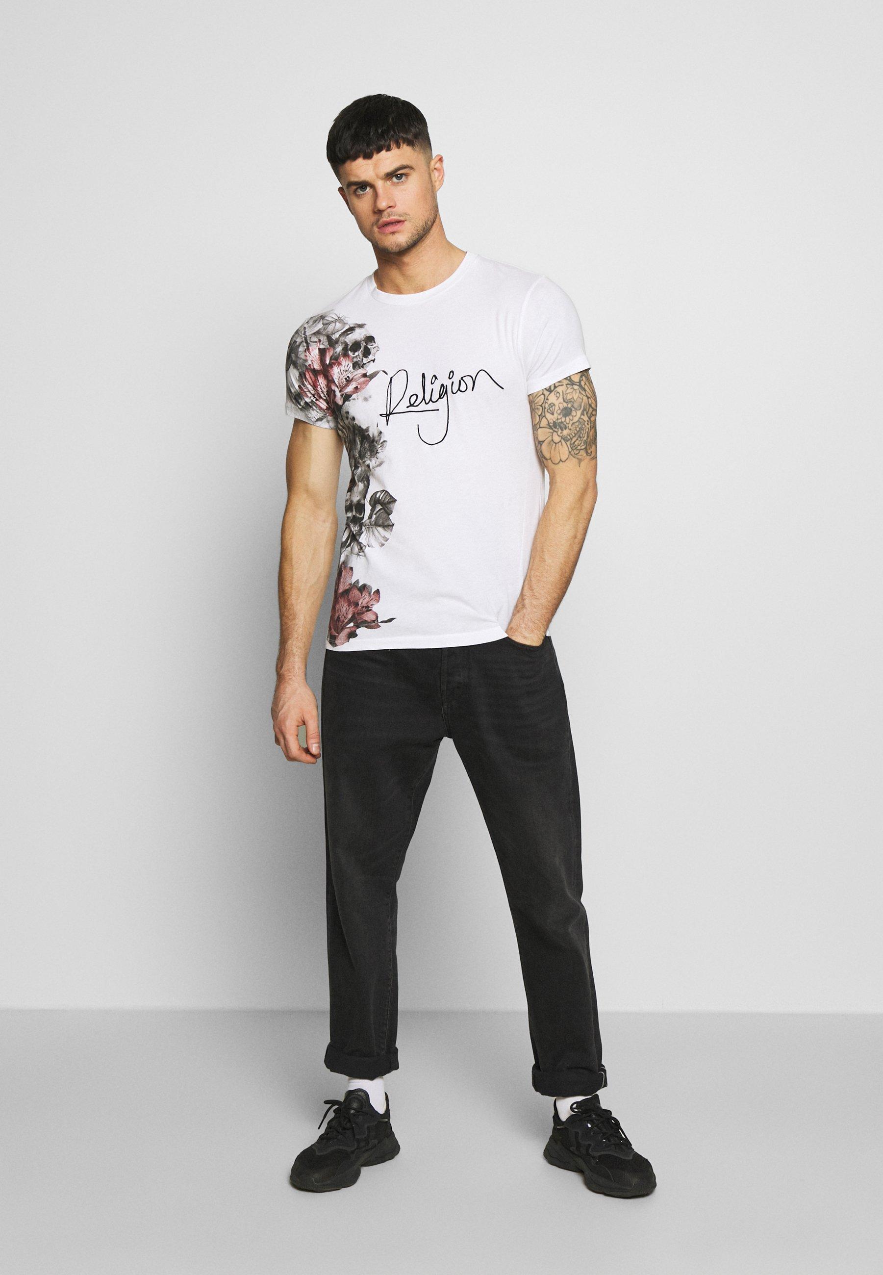 Religion HERO TEE - T-shirt con stampa - white