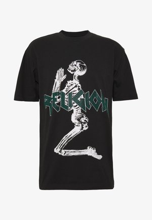 PLATINUM TEE - T-shirt med print - black/green