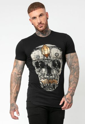 POSTERRIZED SKULL - T-shirt z nadrukiem - black