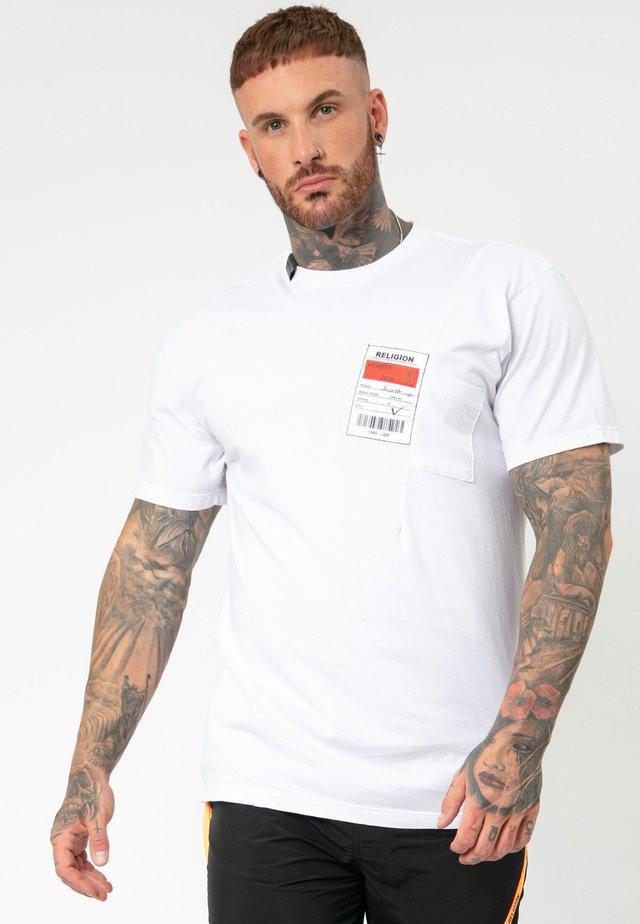 MEMBERS TEE - T-shirt print - white