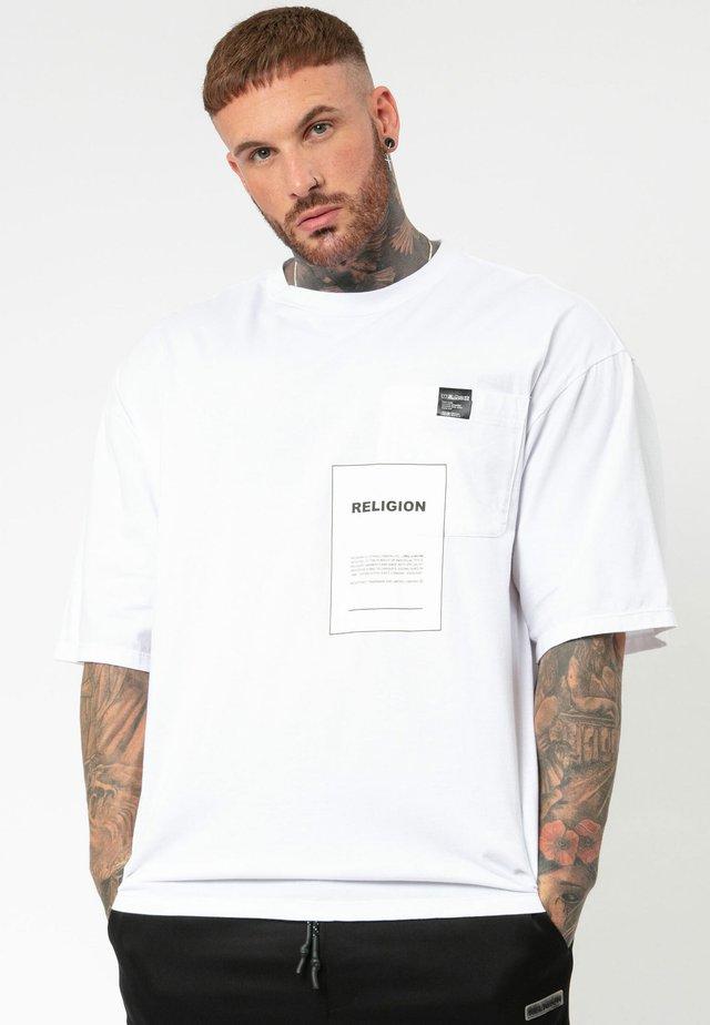 OVER LAY - Print T-shirt - white