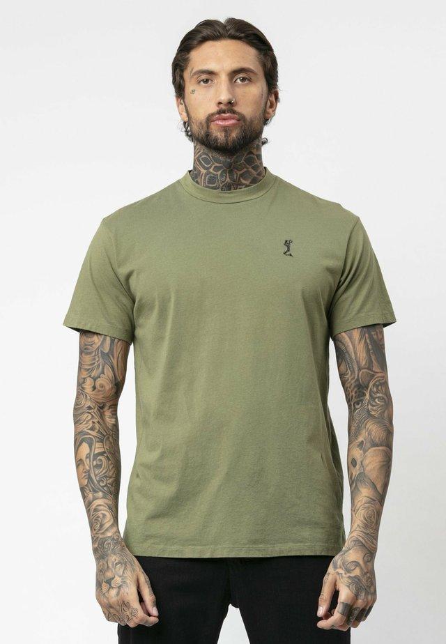 BOX  - Basic T-shirt - khaki
