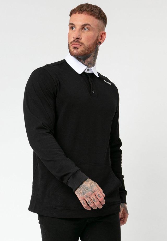 UNION LS - Polo shirt - black/white