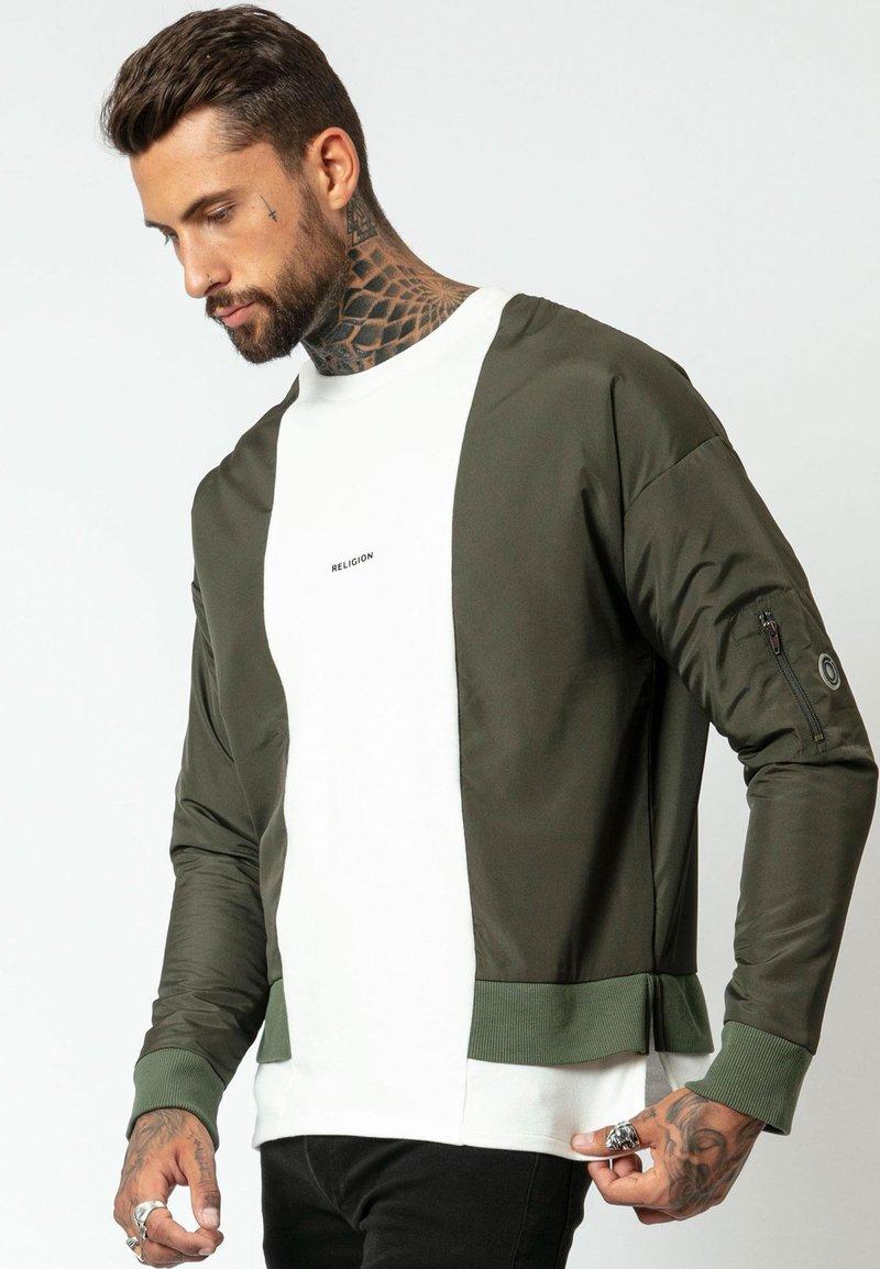 Religion - Sweatshirt - khaki/off white