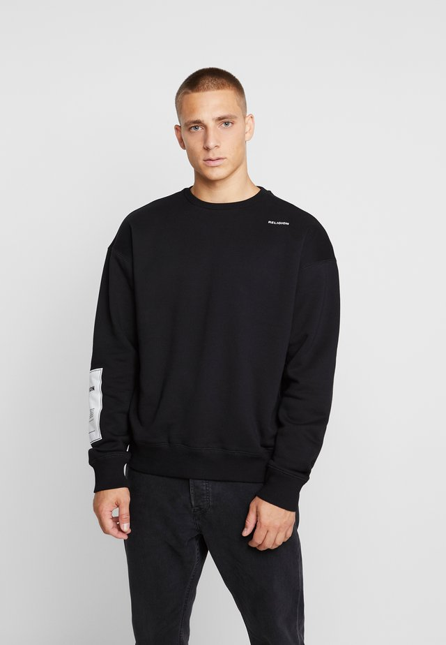 PLAIN CREW - Sweatshirt - black