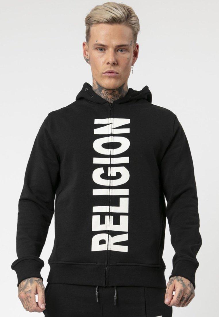 Religion - SPLIT - Hoodie met rits - black/white
