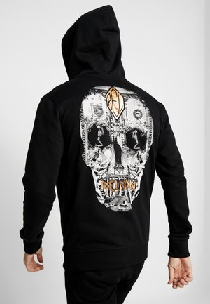 POSTERRIZED SKULL HOODY - veste en sweat zippée - black