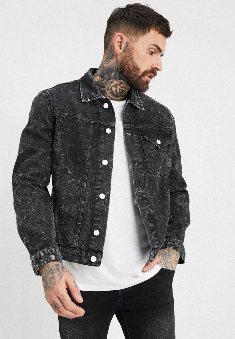 Religion - BLITZ JACKET - Denim jacket - grey speckle