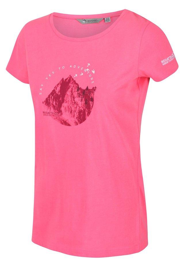 BREEZED FREIZEIT - Print T-shirt - neon pink