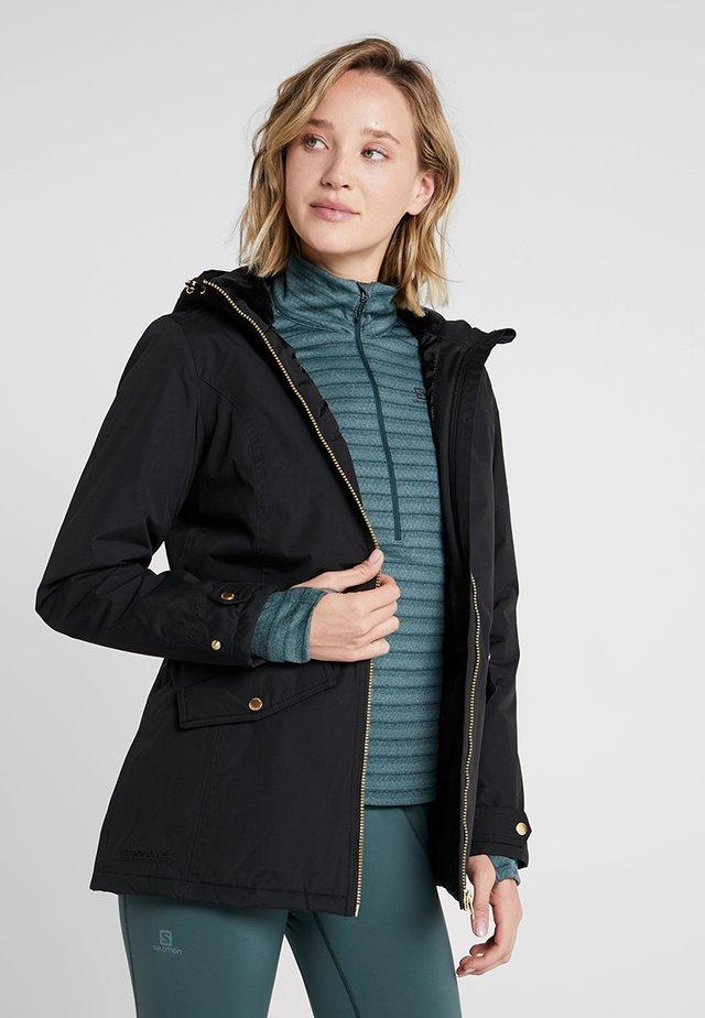 BERGONIA - Winter jacket - black/gold