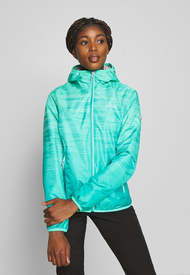 LEERA - Regenjas - turquoise