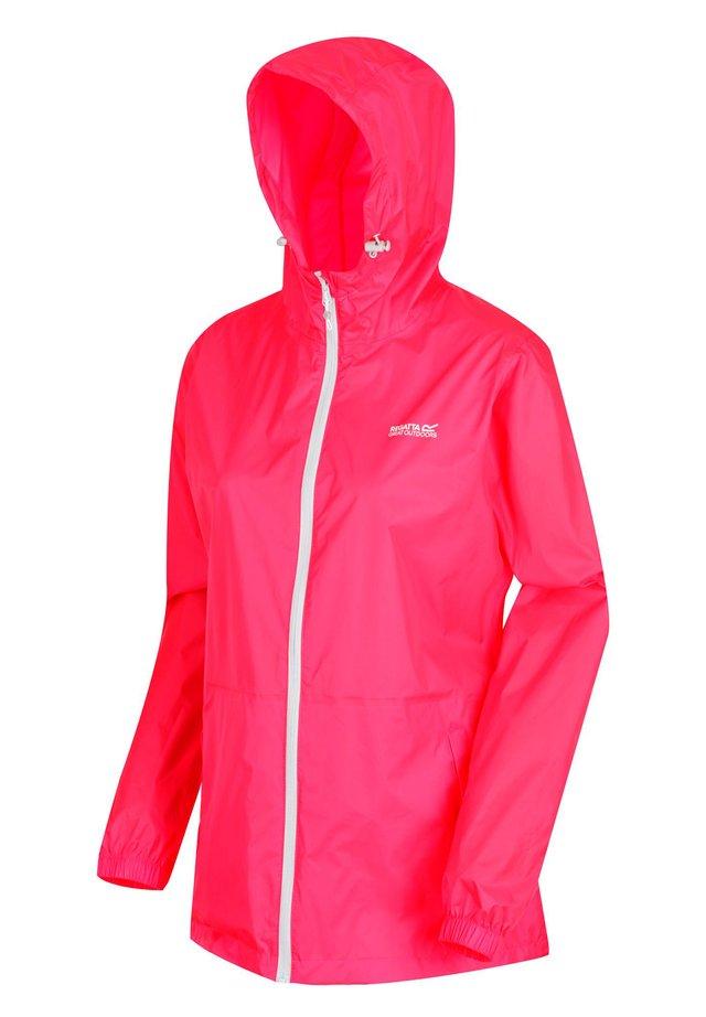 Waterproof jacket - neon pink