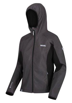AREC  - Soft shell jacket - blkmarl/blak