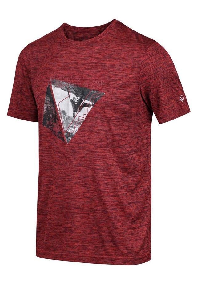 REGATTA FINGAL V FUNKTIONS SHIRT WANDERSHIRT HERREN OUTDOORSHIRT - Print T-shirt - burnt salmon