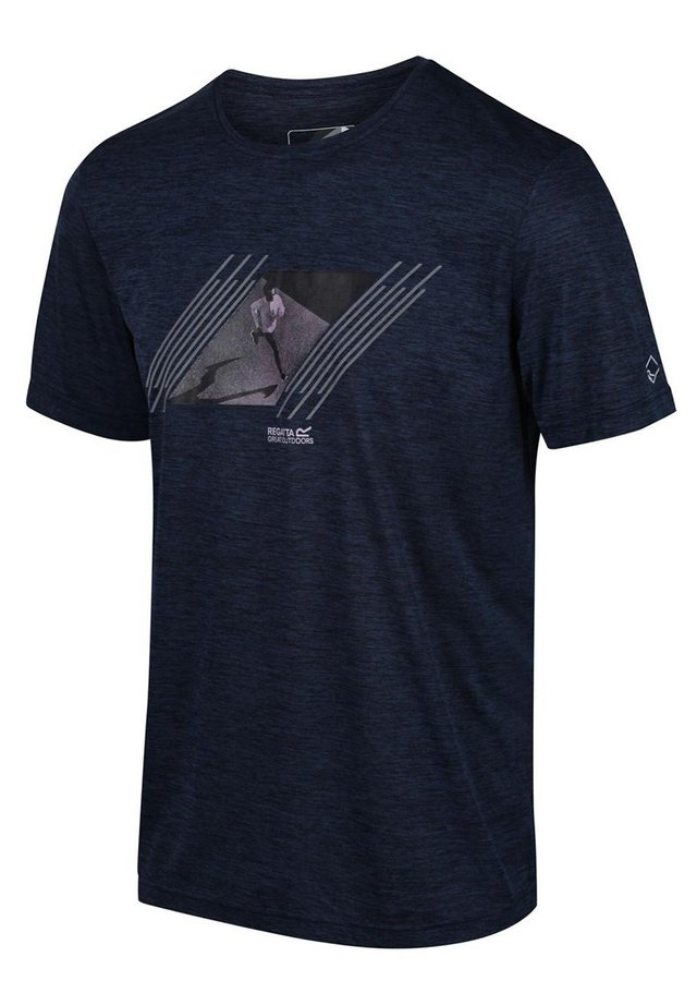 REGATTA FINGAL V FUNKTIONS SHIRT WANDERSHIRT HERREN OUTDOORSHIRT - Print T-shirt - dark denim