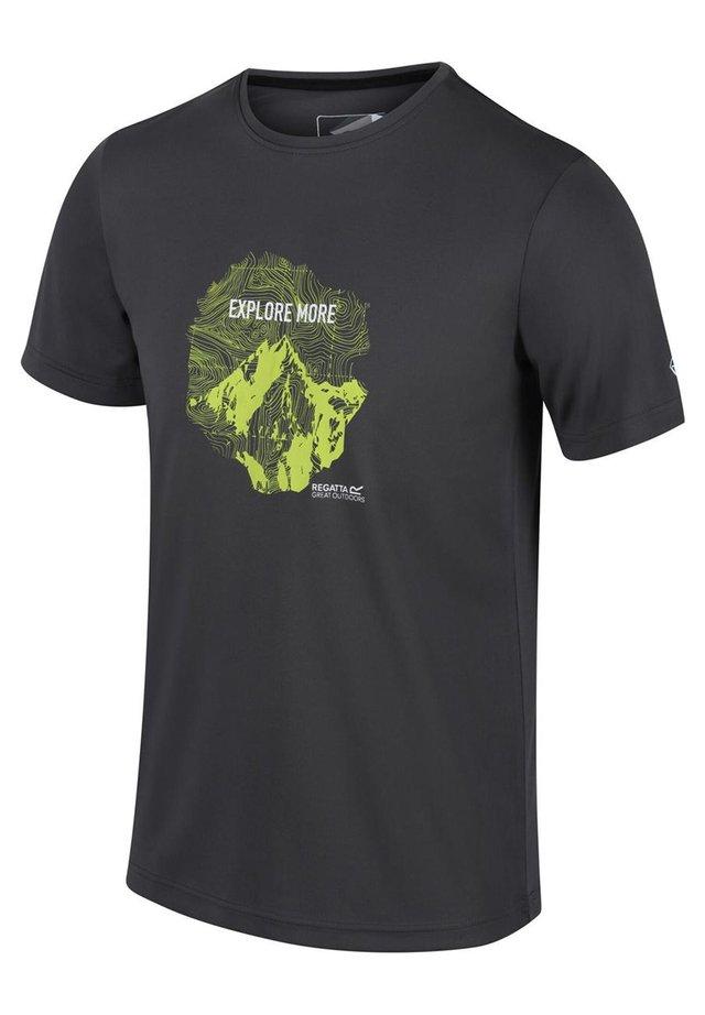 REGATTA FINGAL V FUNKTIONS SHIRT WANDERSHIRT HERREN OUTDOORSHIRT - Print T-shirt - magnet
