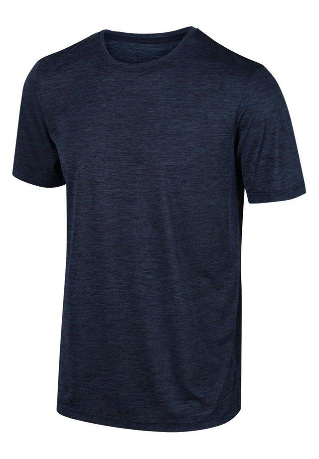 REGATTA FINGAL V FUNKTIONS SHIRT WANDERSHIRT HERREN OUTDOORSHIRT - Basic T-shirt - dkdenim marl