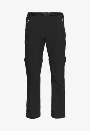 XERT  - Pantalones montañeros largos - black