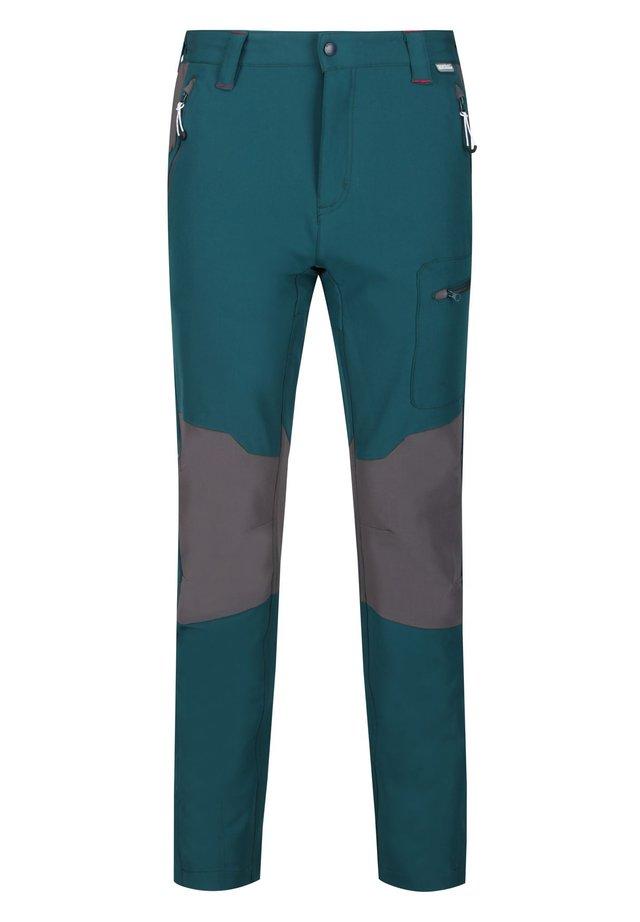 REGATTA QUESTRA II SOFTSHELL HOSE WANDERHOSE HERREN REGULÄRGRÖSSE - Outdoor trousers - dpteal/magnt