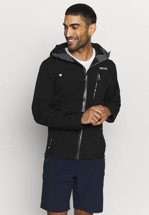 BIRCHDALE - Hardshell jacket - black/magnet