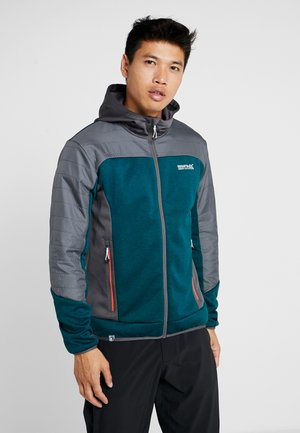 HASKA HYBRID - Fleece jacket - turquoise/grey