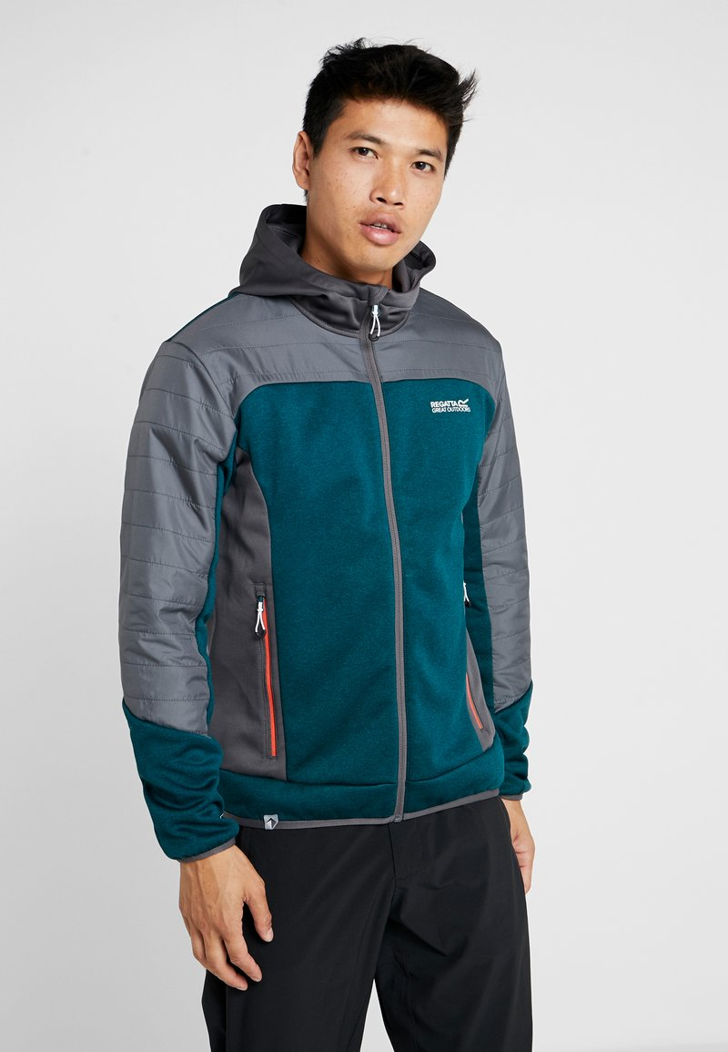 Regatta - HASKA HYBRID - Fleece jacket - turquoise/grey