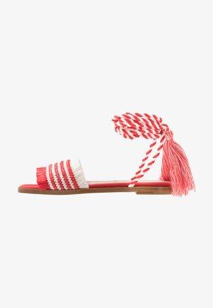 Sandaler - red/white