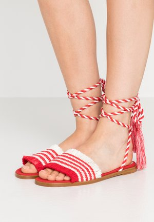 Sandales - red/white