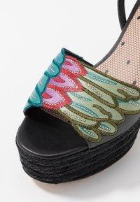Red V - Sandály na vysokém podpatku - black/multicolor - 5