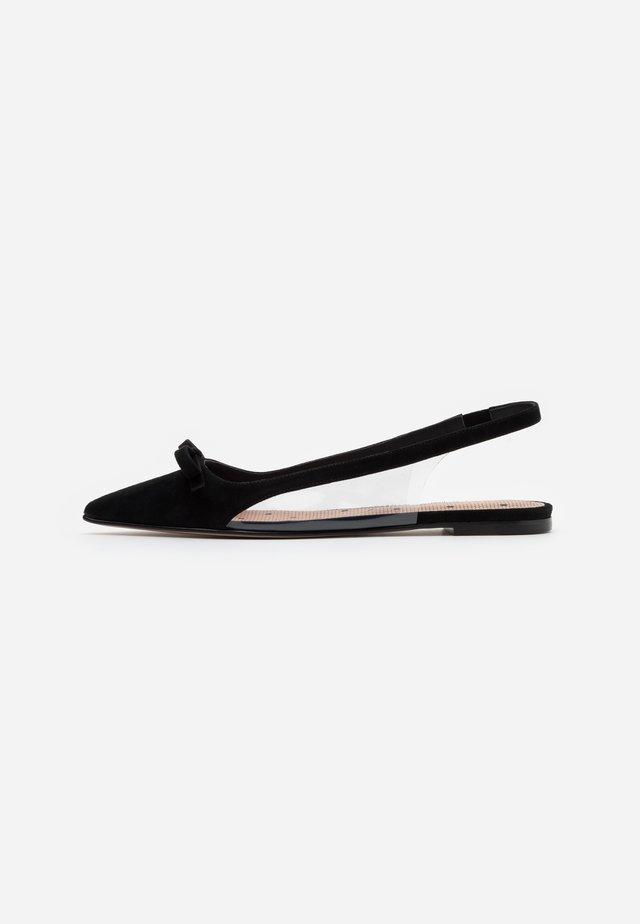Slingback ballet pumps - nero