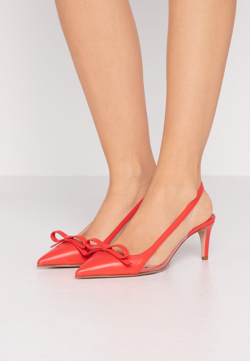 Red V - Classic heels - coral
