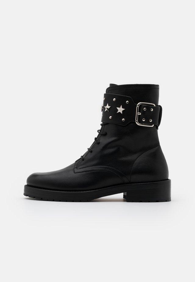 COMBAT BOOT - Cowboy/biker ankle boot - nero