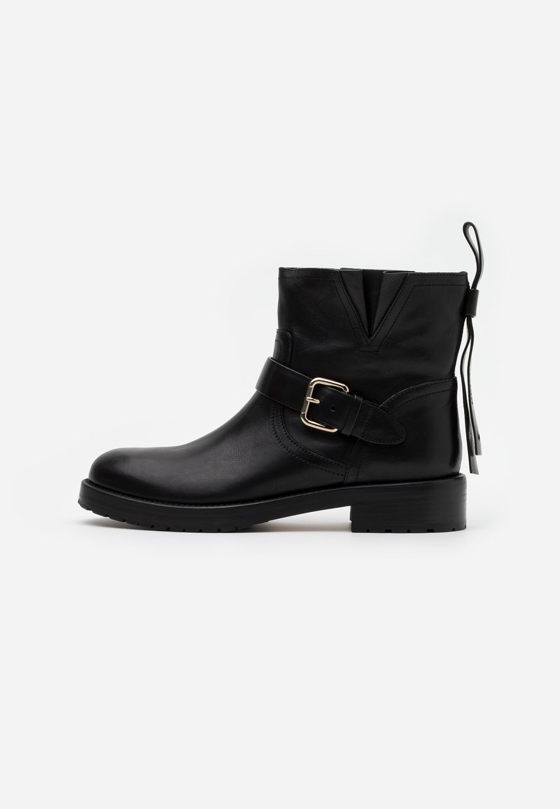 Red V - Cowboy/biker ankle boot - nero