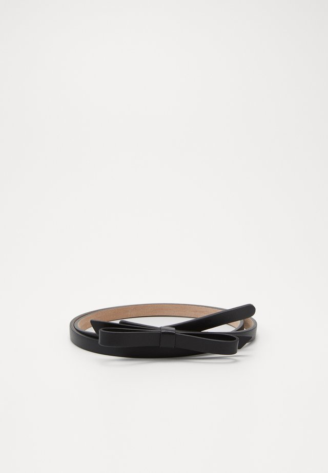 SANDIE BOW SKINNY BELT - Belte - black