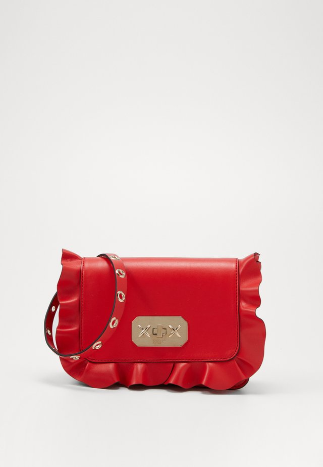 ROCK RUFFLES CROSSBODY - Across body bag - coral