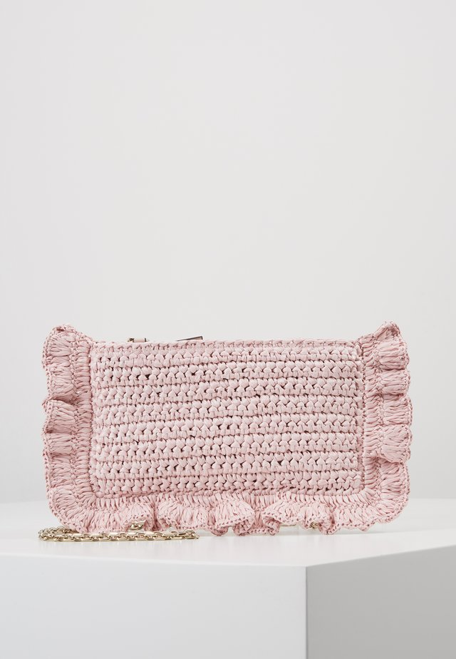 ROCK RUFFLES RAFFIA CLUTCH - Across body bag - nude