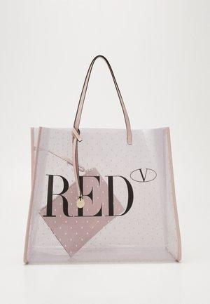 TOTE LOGO TRANSPARENT SET - Shopping bag - nude