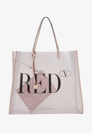 TOTE LOGO TRANSPARENT SET - Tote bag - nude