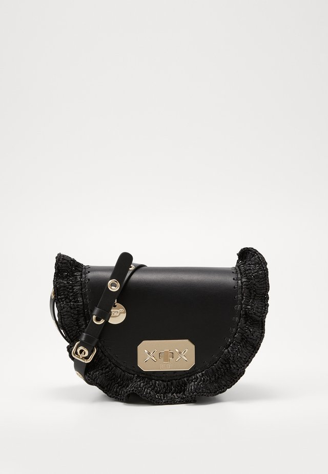 ROCK RUFFLE WAISTBAG RAFFIA - Bum bag - black